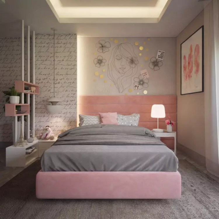 Pink And Gray Bedroom Ideas Photos Hackrea