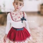Conjunto Falda y Camiseta Rojo