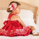 Vestido Rojo y Puntilla