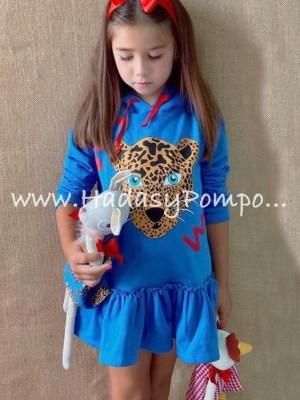 Vestido Leopardo Azulón