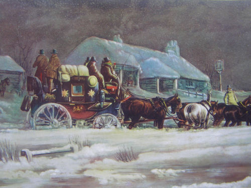 An Account of Stagecoaches Stranded in Snow in 1860s