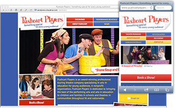 performing arts website