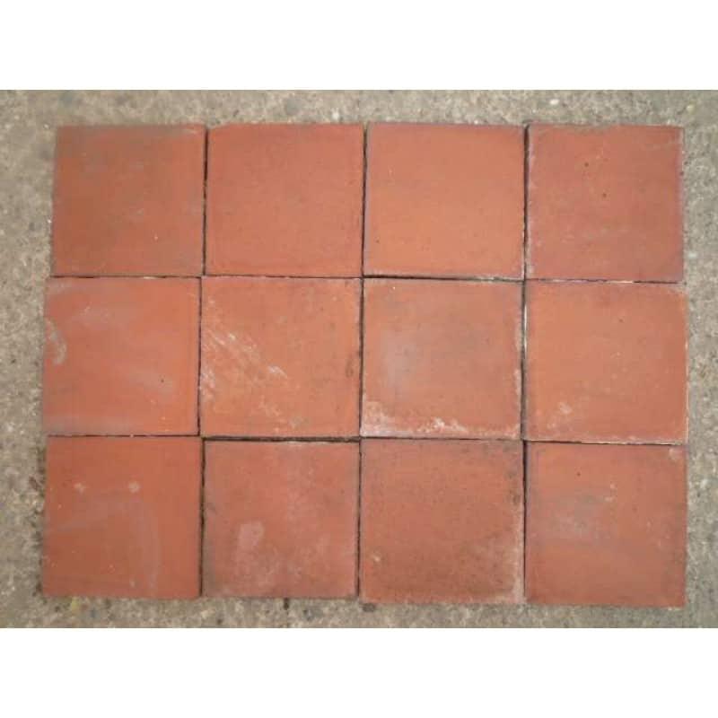 6x6 red quarry tiles