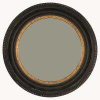 Wilton Black and Gold Rusty Round Mirror - Accessories ...
