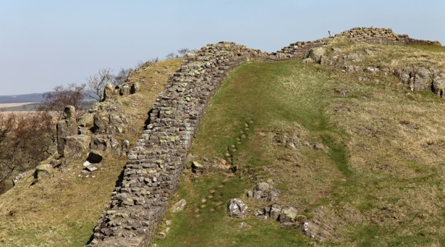 Heading up to Winshields on Hadrian's Wall