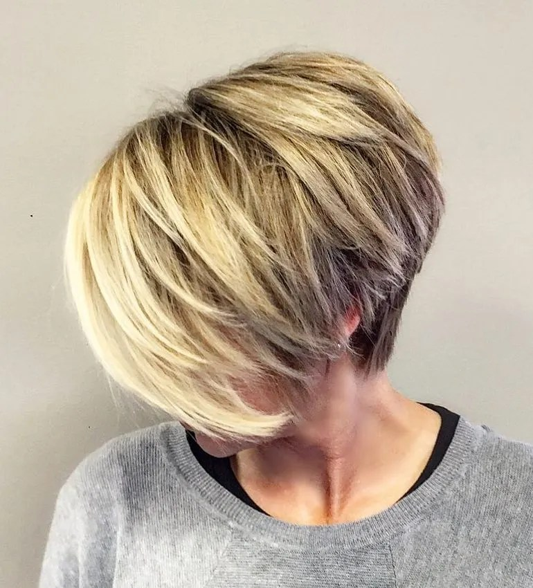 Fine Hair Pixie with Bangs and Shorter Back