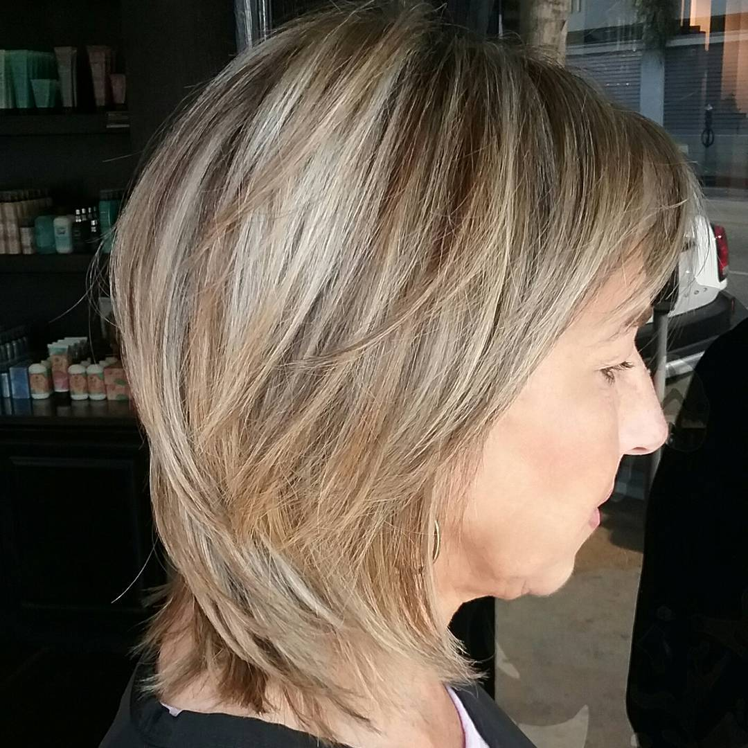 Thin Hair Layered Bob over 50