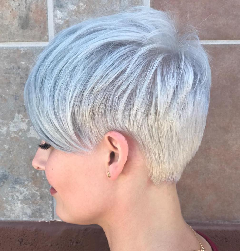 Women's Short Gray Haircut for Fine Hair Type
