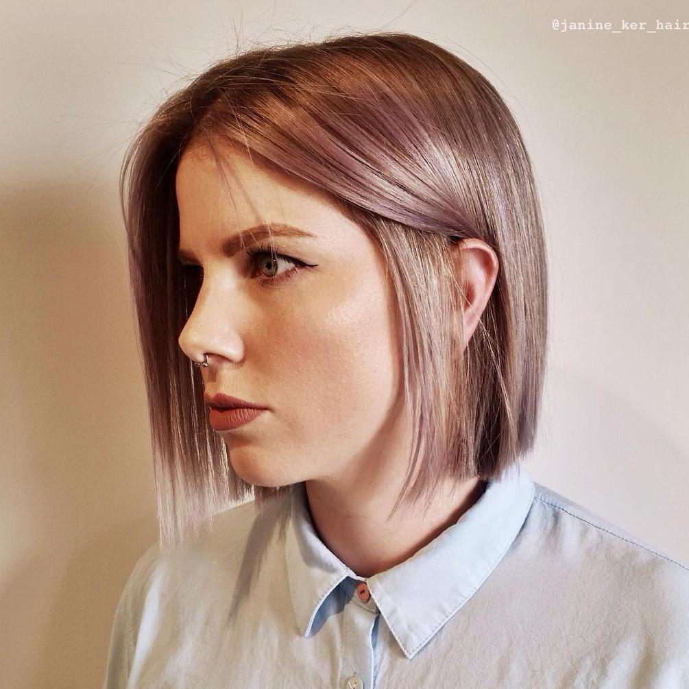 Extremely Thin Straight Blunt Bob Haircut
