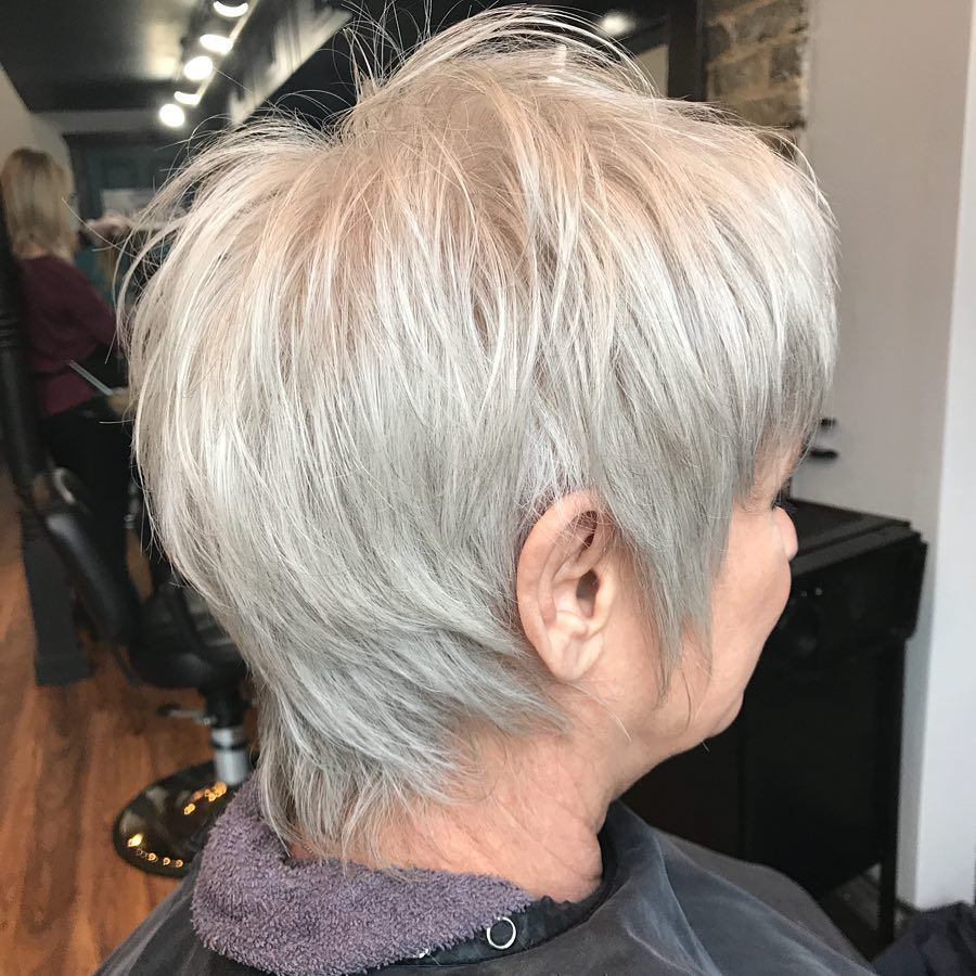 Short Shaggy Gray Haircut