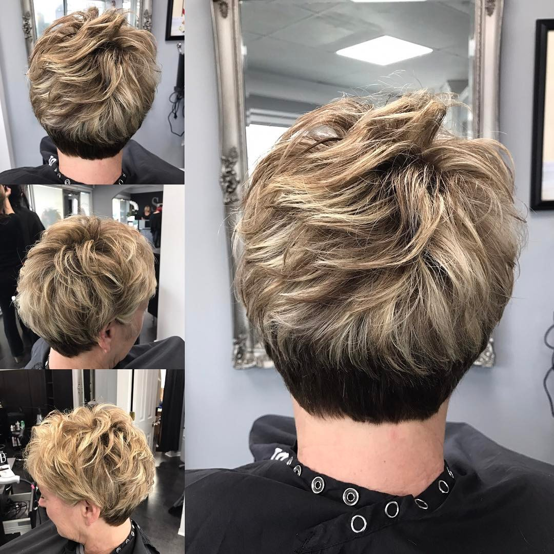Tapered Two-Tone Pixie for Fifty Year Olds