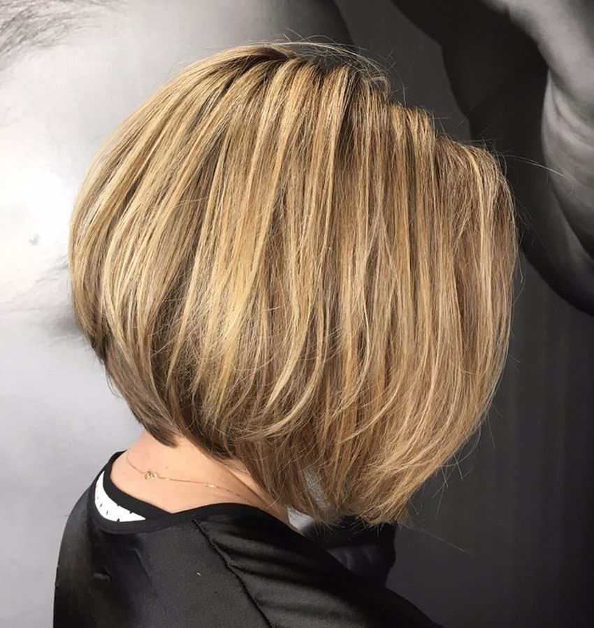 Short Graduated Bob with Layers for Fine Hair