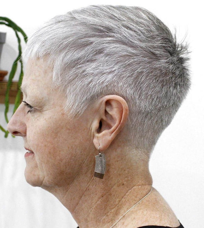 Over 60 Extra Short Gray Haircut