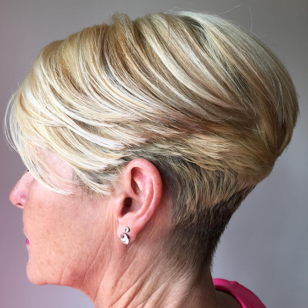 60+ Stacked Blonde Pixie Bob