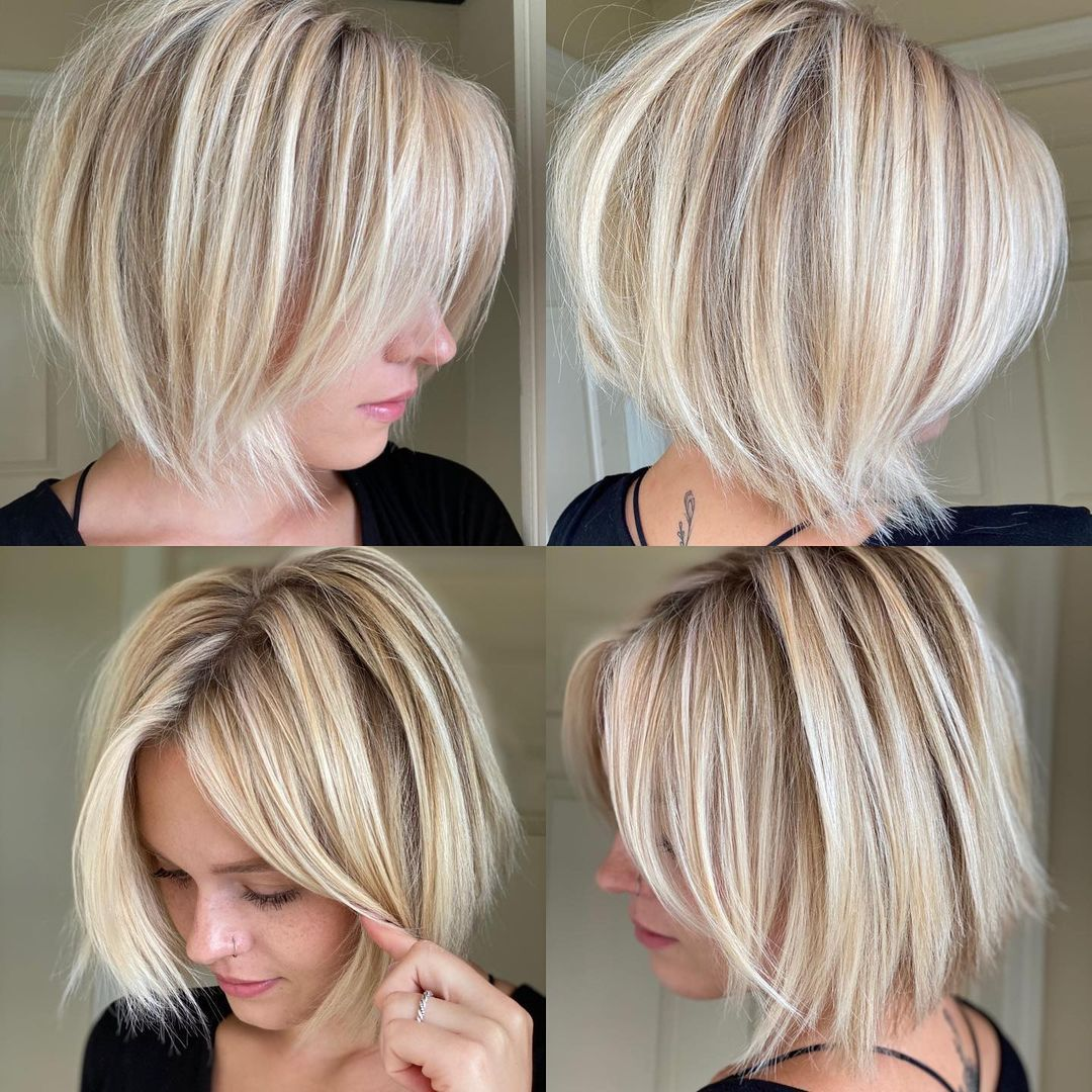 Inverted Shaggy Short Bob Haircut
