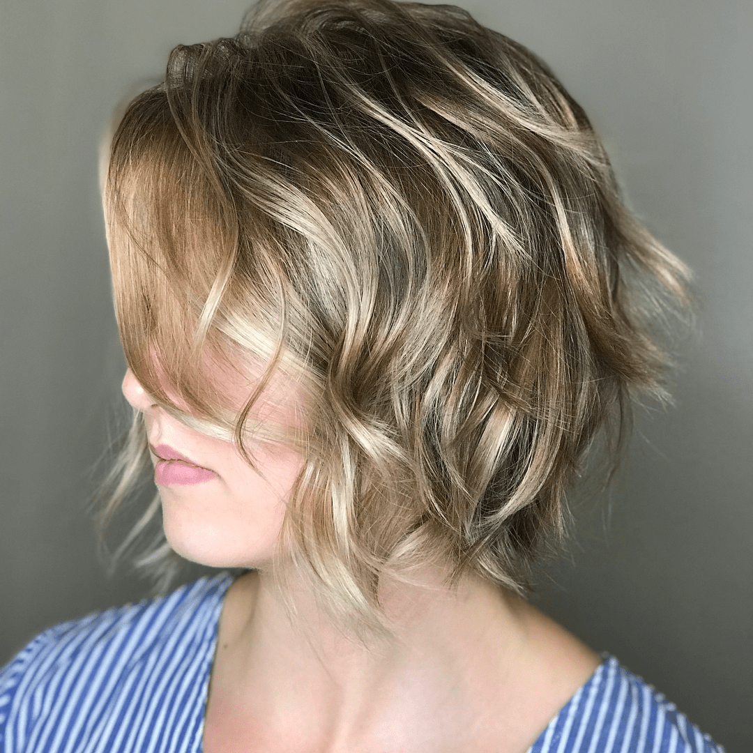 Razored Bob Hairstyle for Fine Hair
