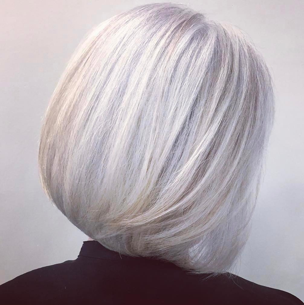 Youthful Sleek Silver Bob