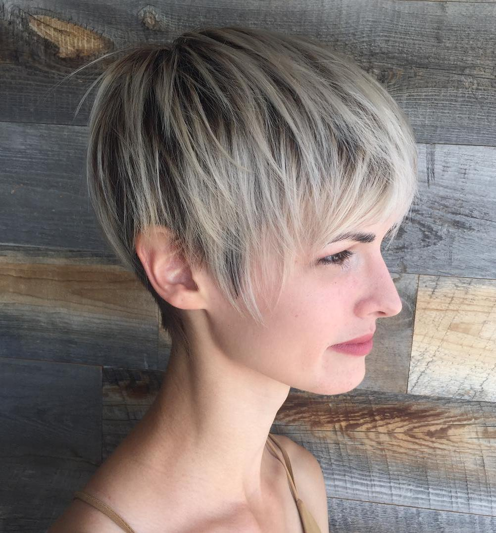 Layered Short Pixie for Fine Hair