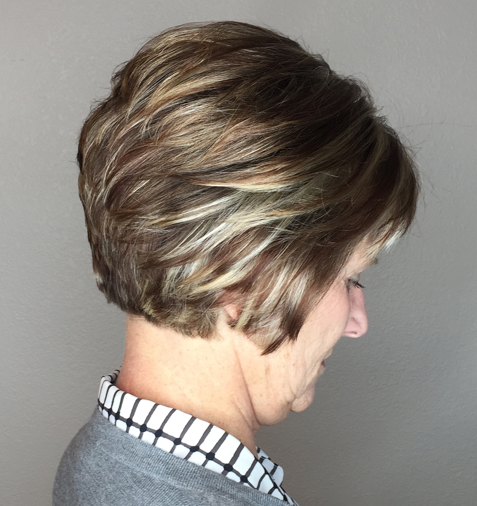 Older Women's Short Layered Haircut