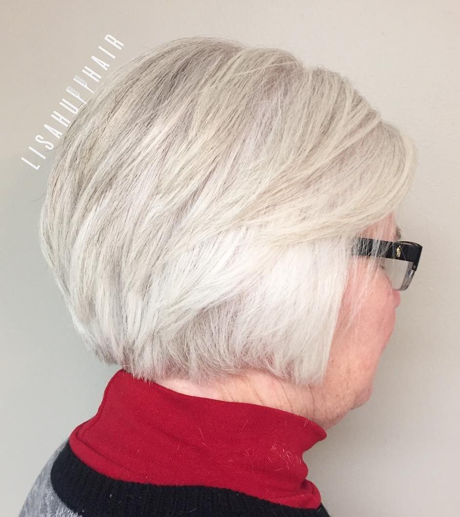 60+ Short White Gray Hairstyle