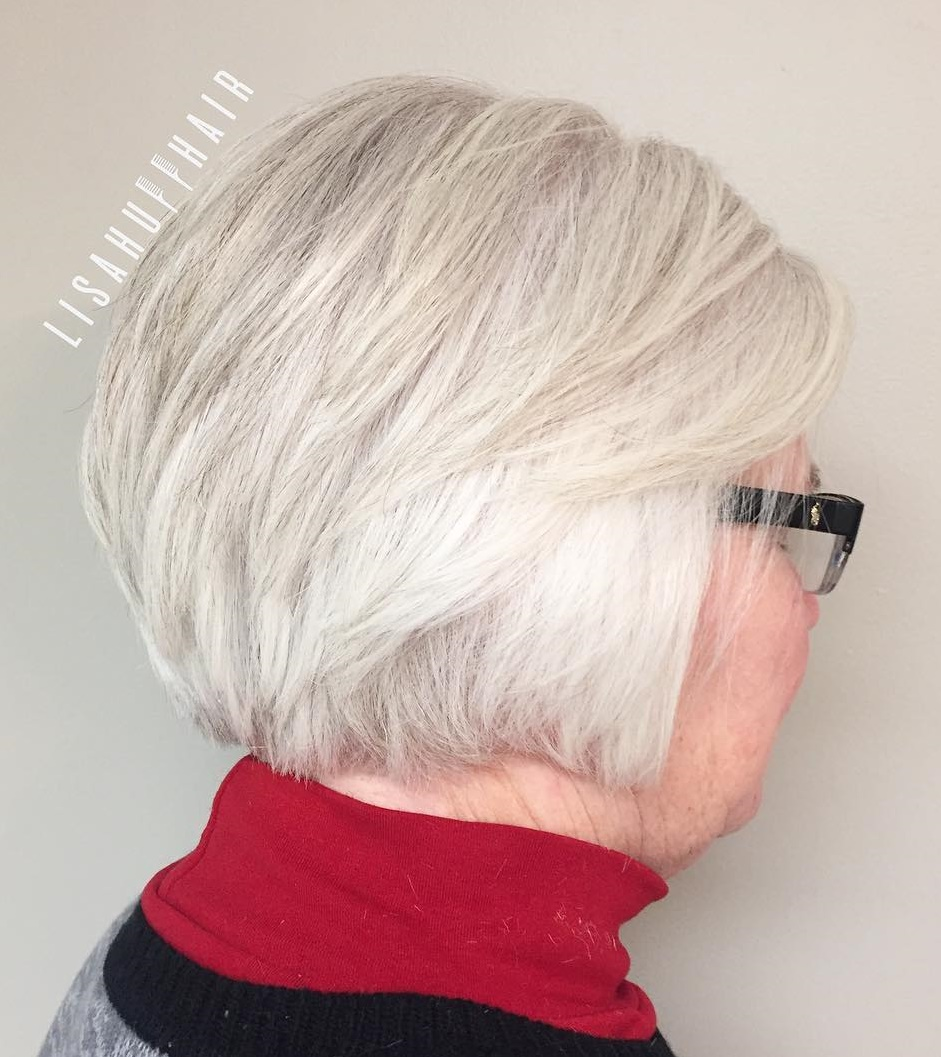 60+ Short White Gray Hairstyle