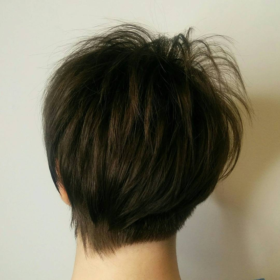 Short Layered Pixie Cut with Asymmetrical Nape