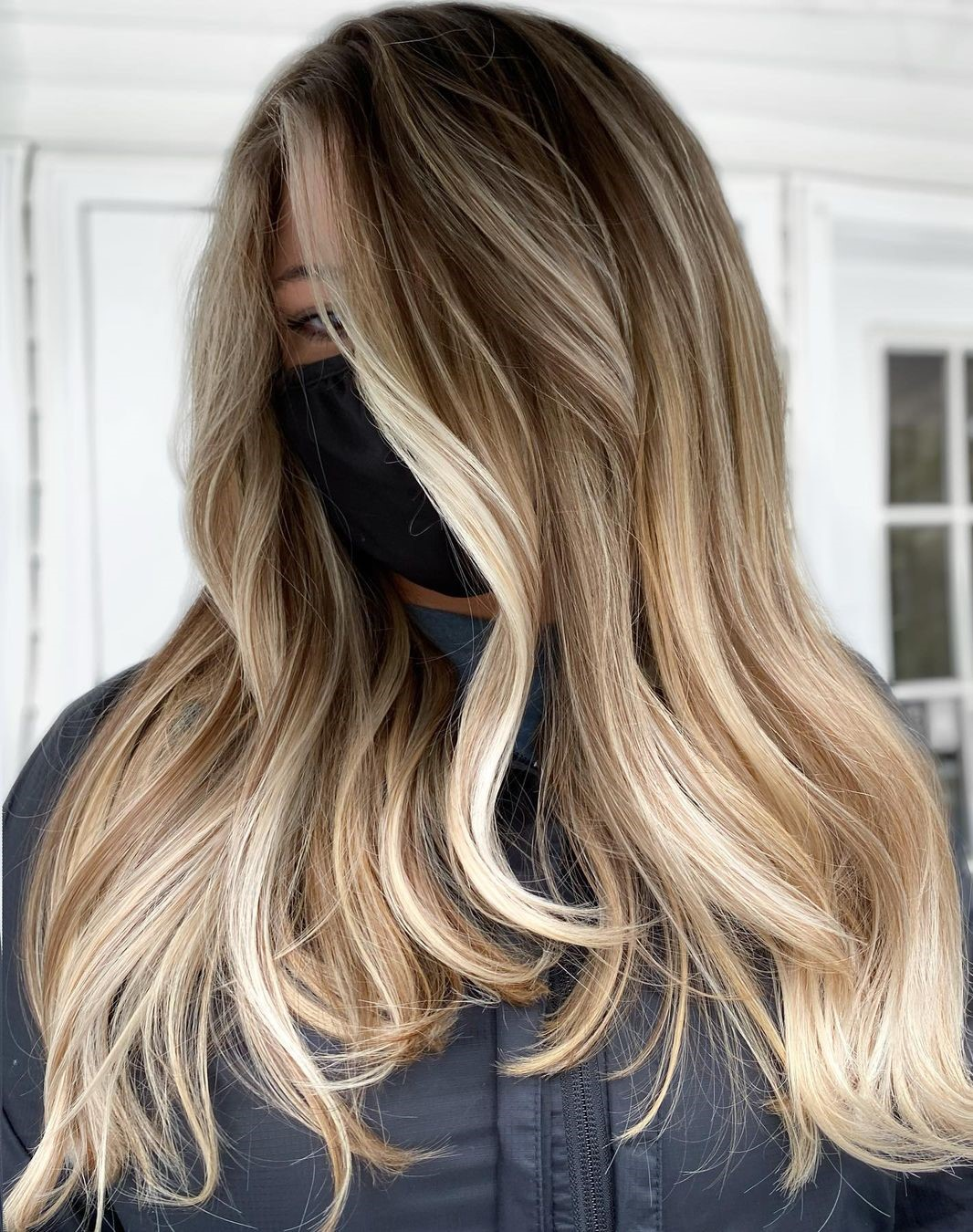 Beach Blonde Balayage for Straight Hair