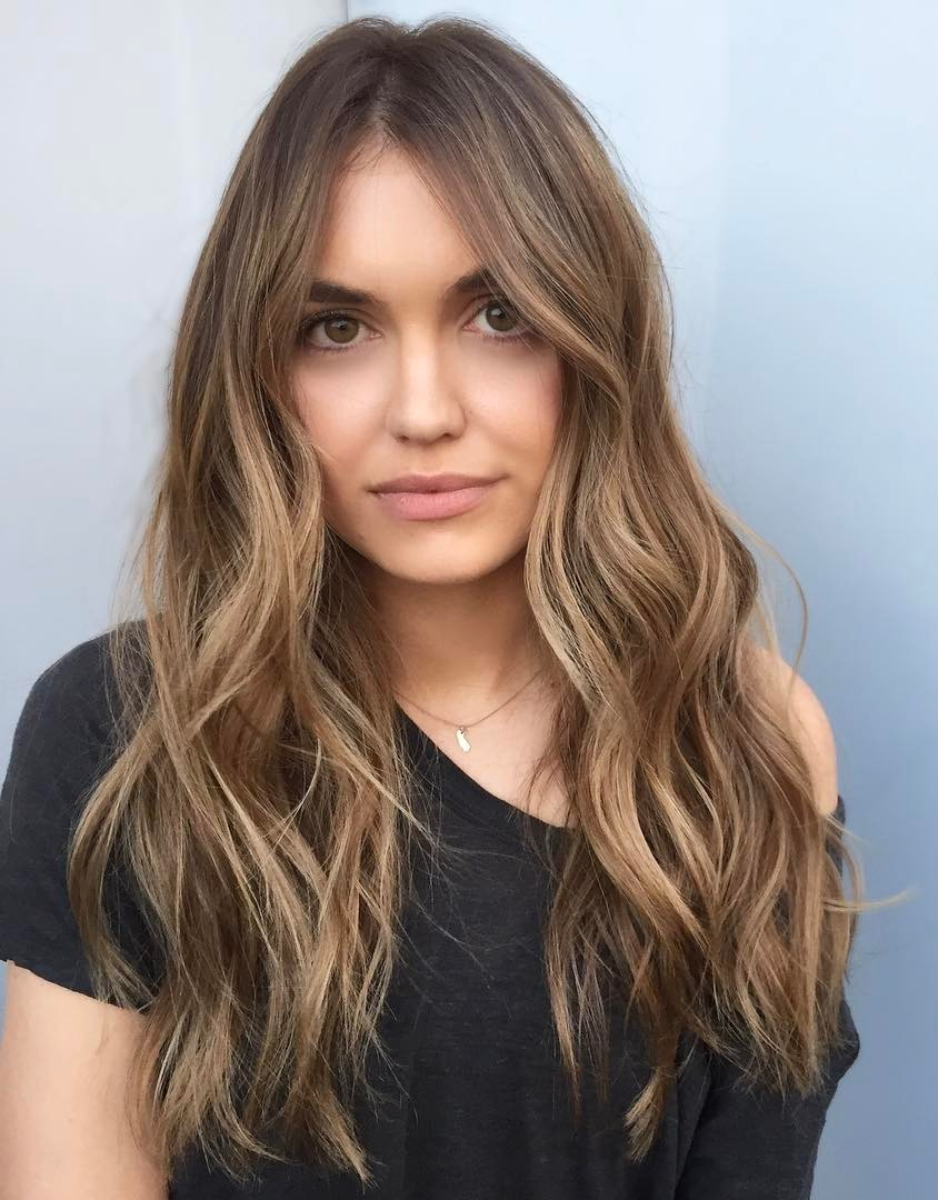 Long Light Brown Natural Looking Balayage Hair