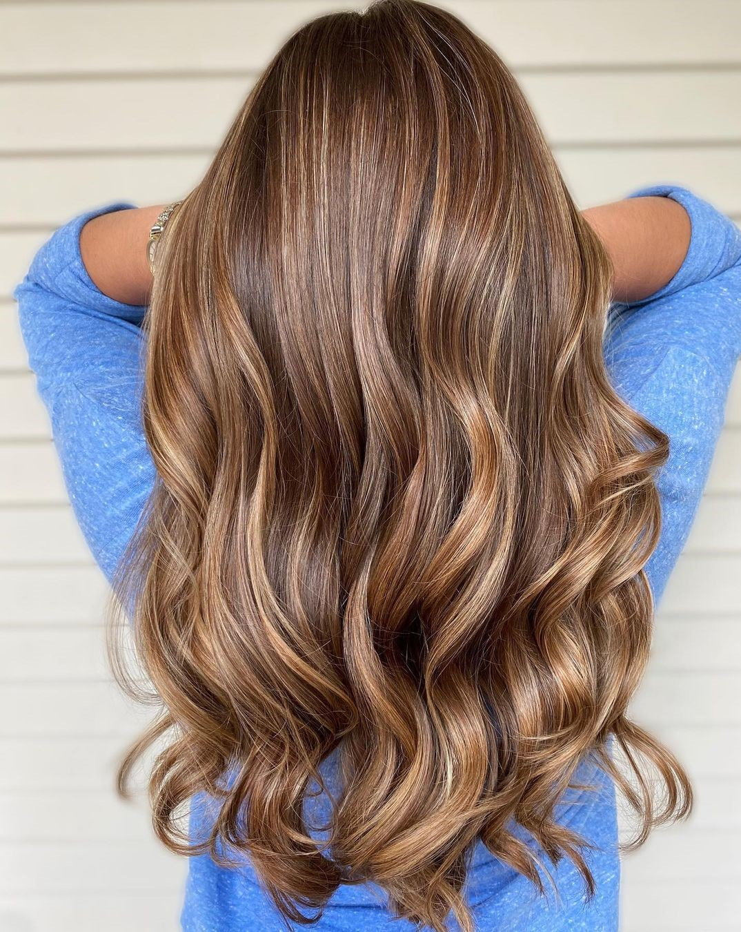 Caramel Brown Balayage Color