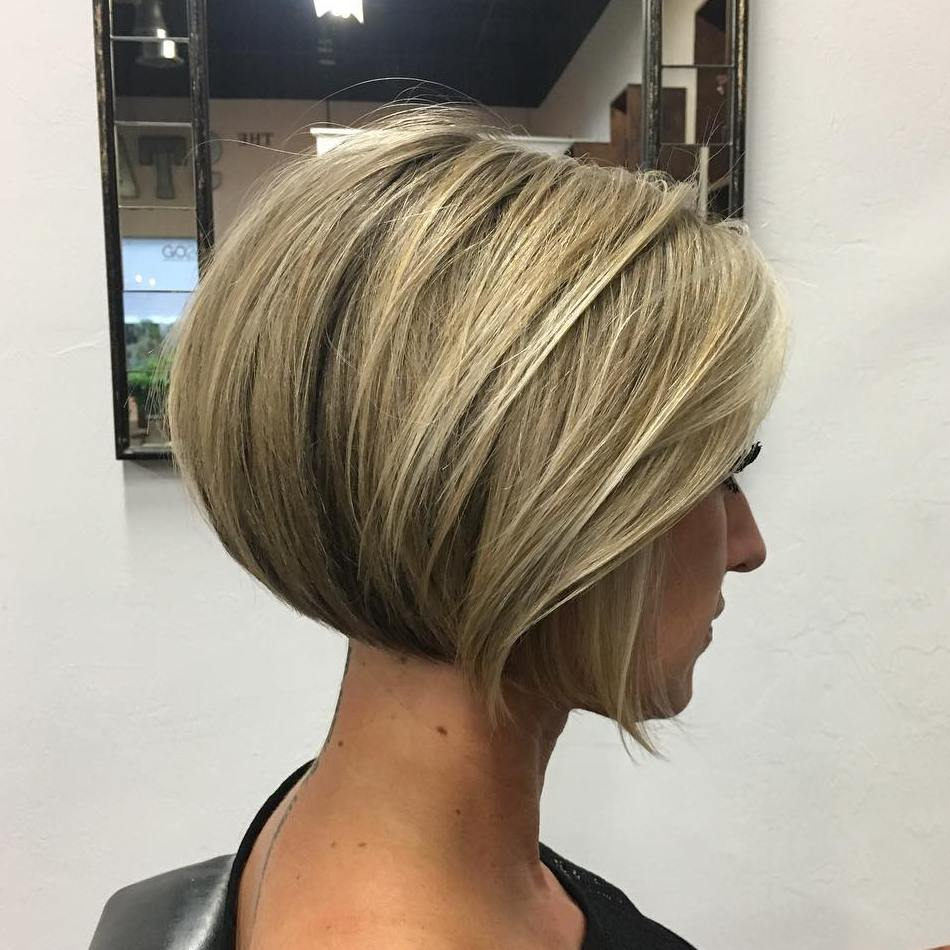 Nape-Length Blunt Bob with Bangs for Thick Hair