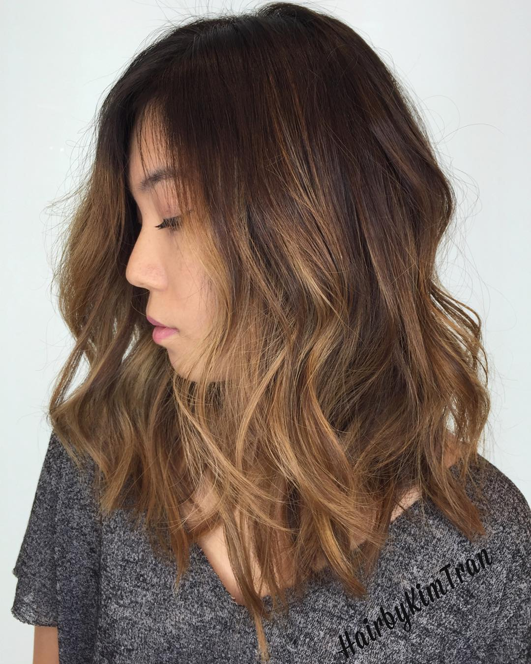 Chocolate Brown and Bronze Balayage