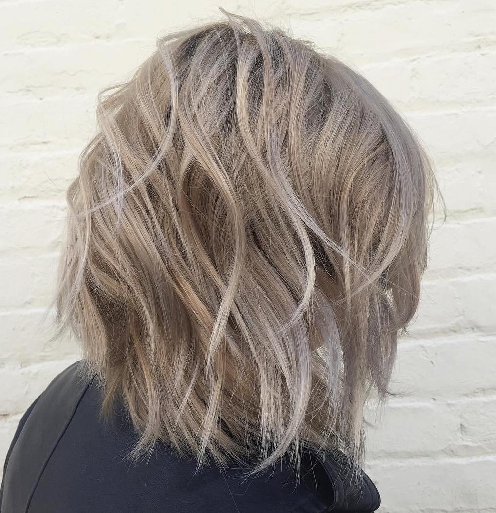 Medium Ash Blonde Bob for Thick Hair