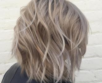 Medium Ash Blonde Bob for Thick Hair