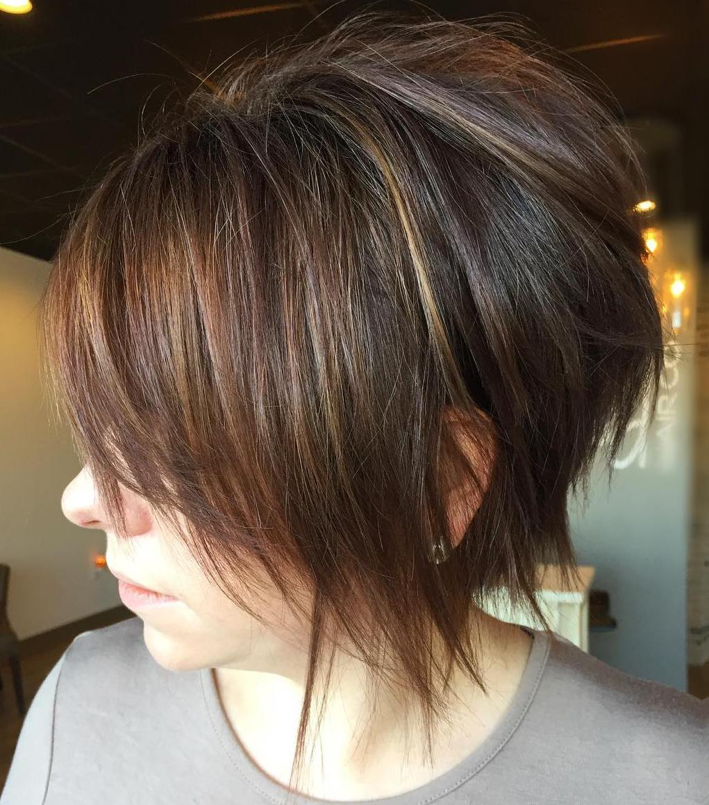 Long Feathered Pixie Cut