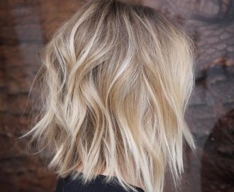 Choppy Blonde Bob Haircut
