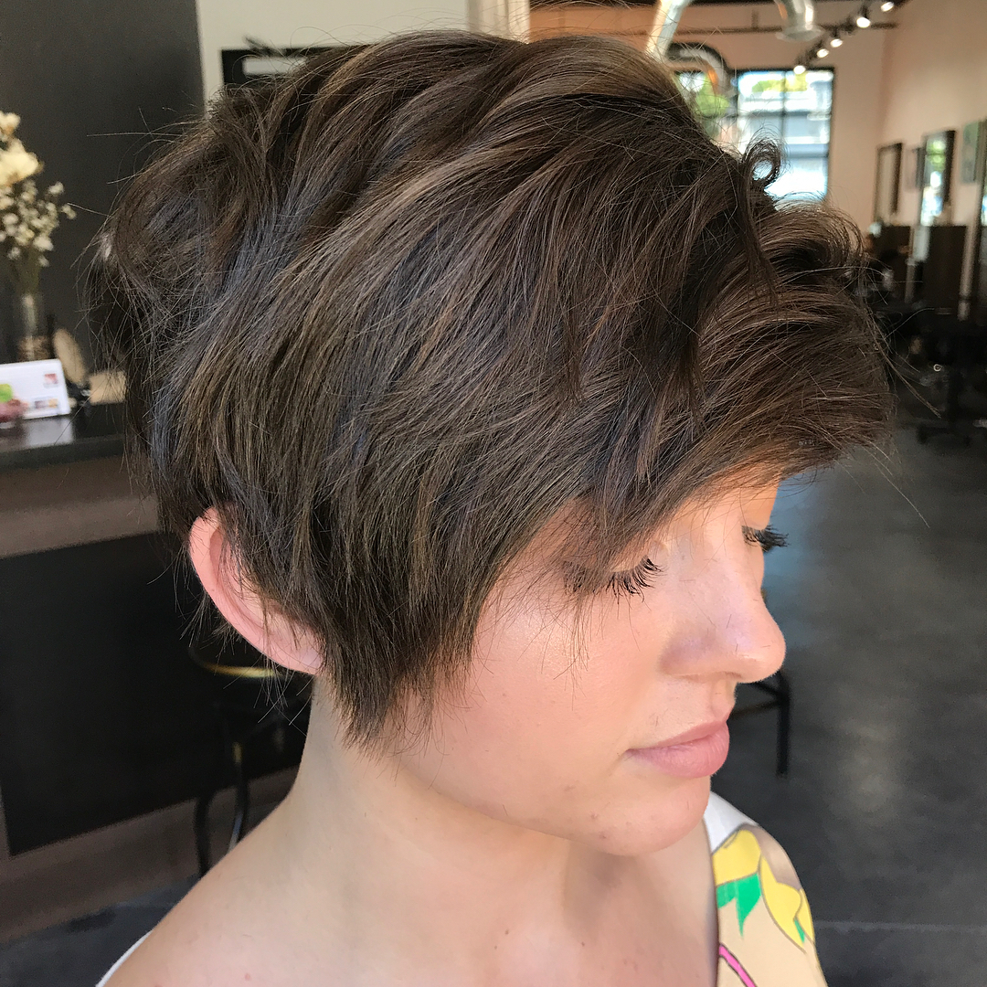 Long Textured Haircut for Thick Hair