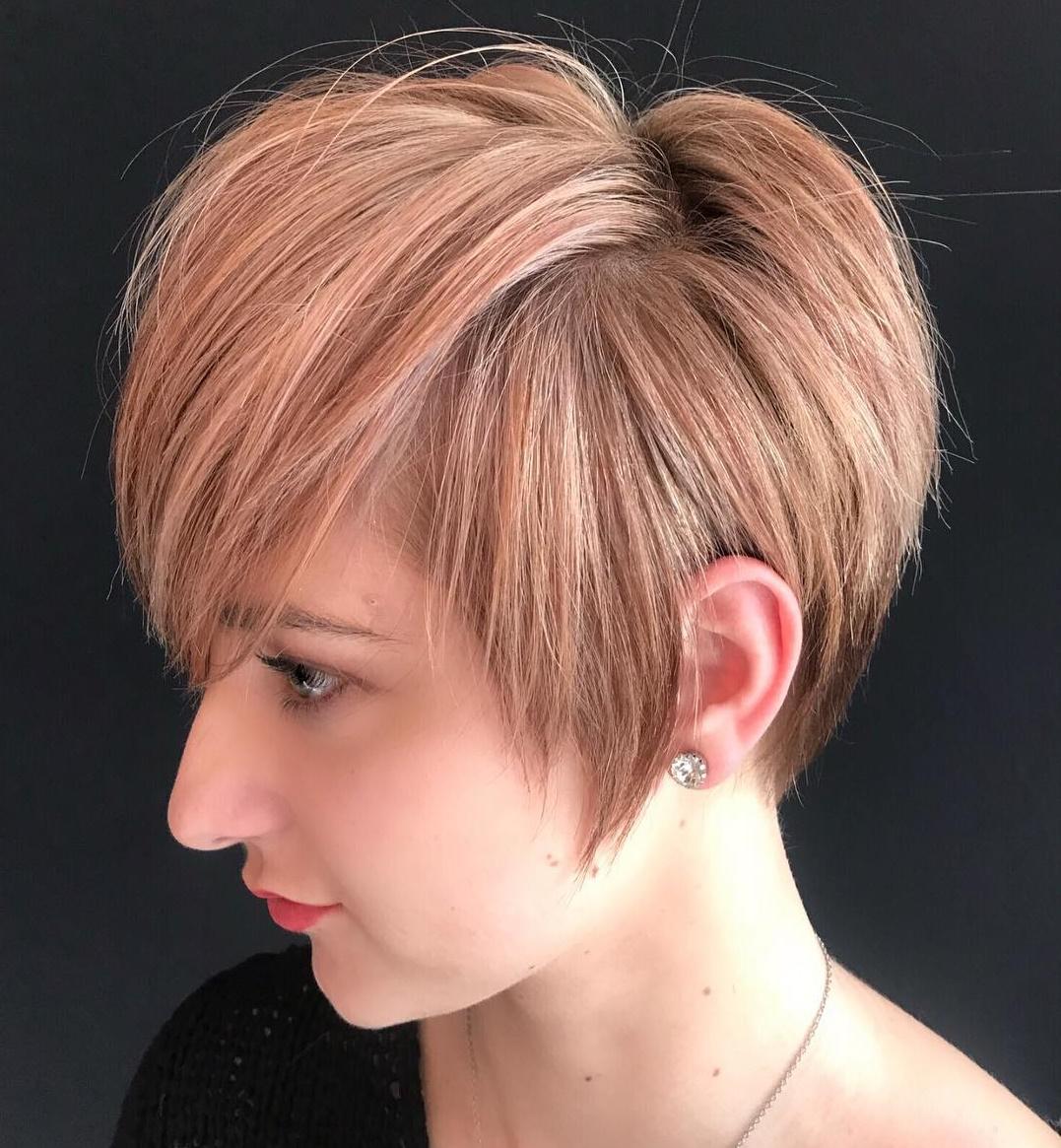 Short Length Thick Haircut with Long Sideburns and Bangs