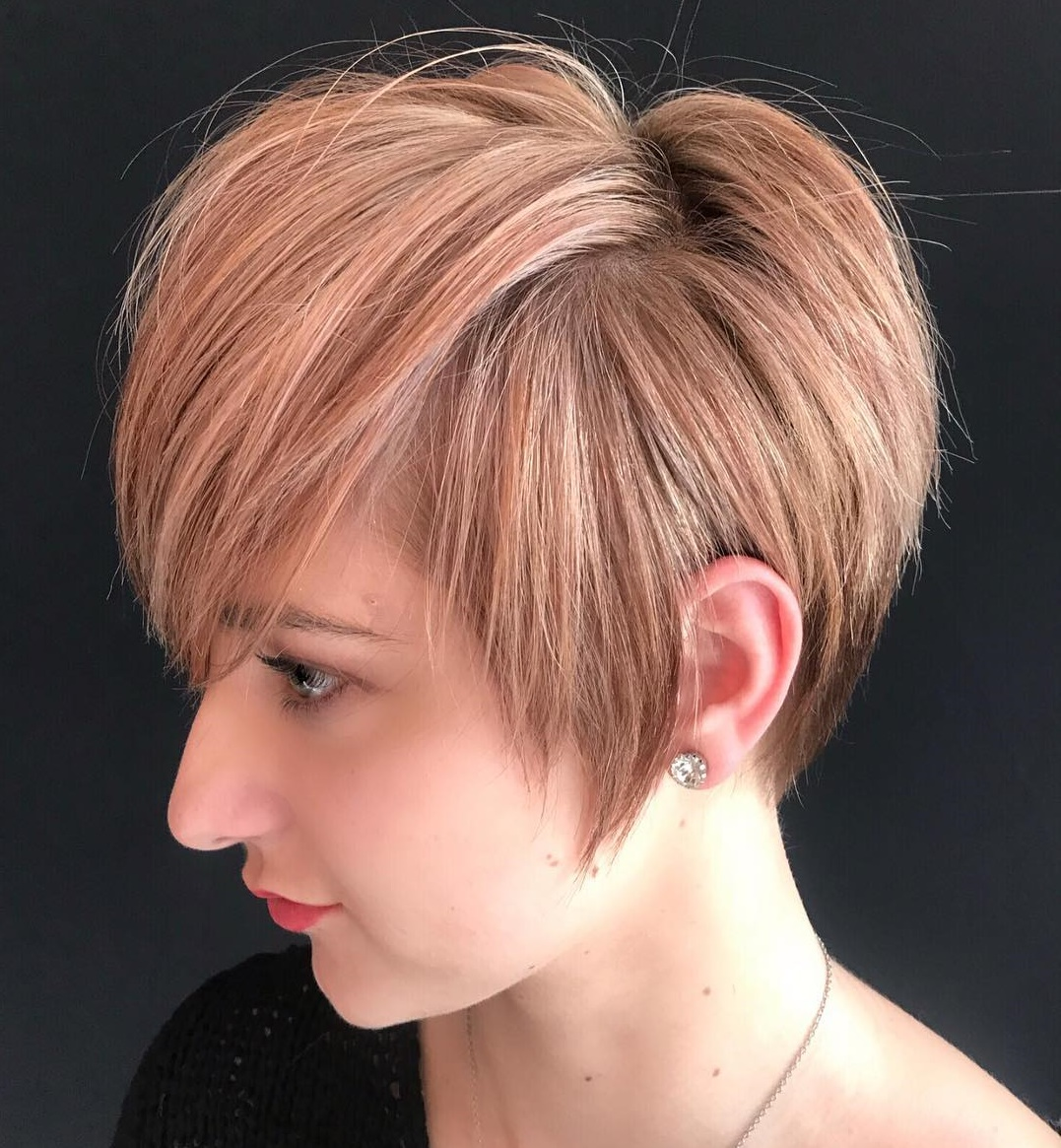 Short Length Thick Haircut with Long Sideburns and Bangs
