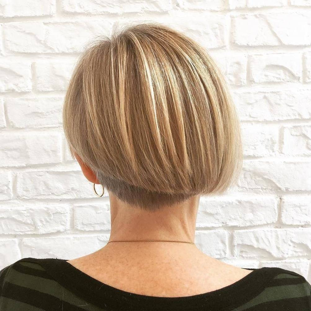 Short Undercut Bob with Asymmetrical Back