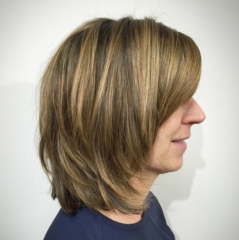 Thick Layered Bob Haircut