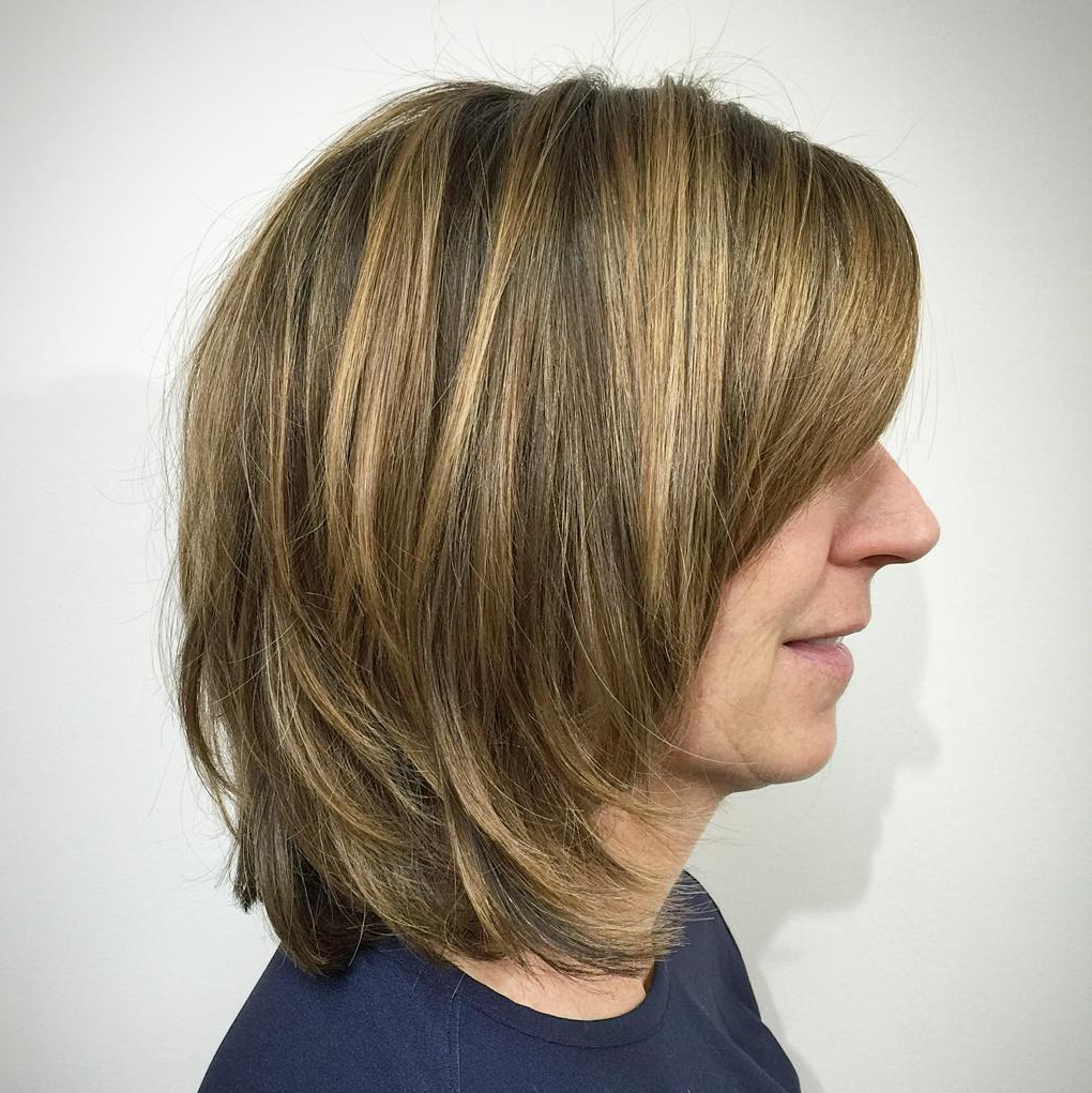 Thick Layered Bob Haircut