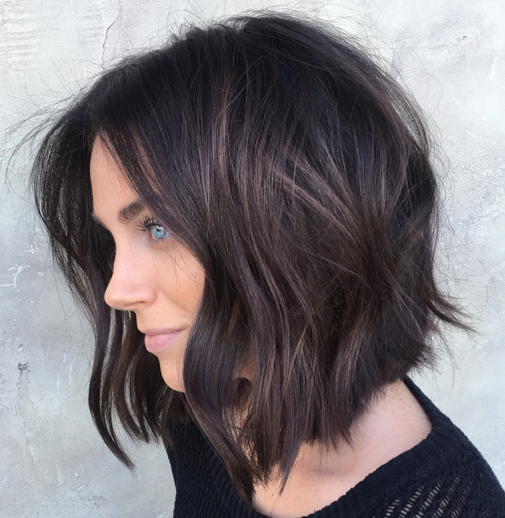 Brunette Bob with Face-Framing Layers