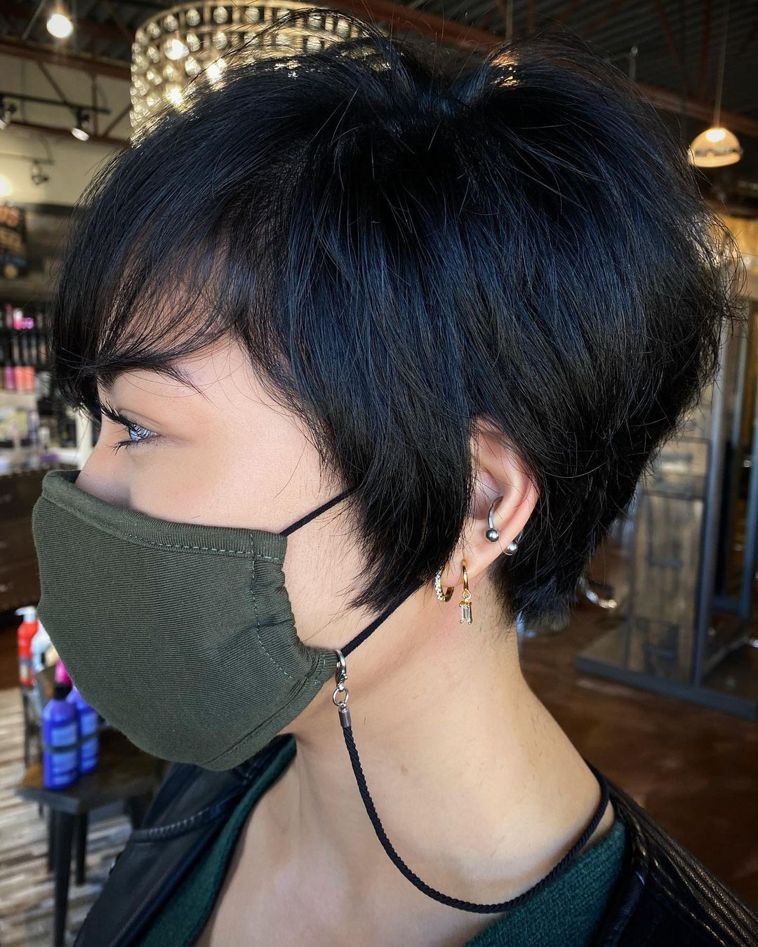 Short Choppy Thick Pixie Hairstyle