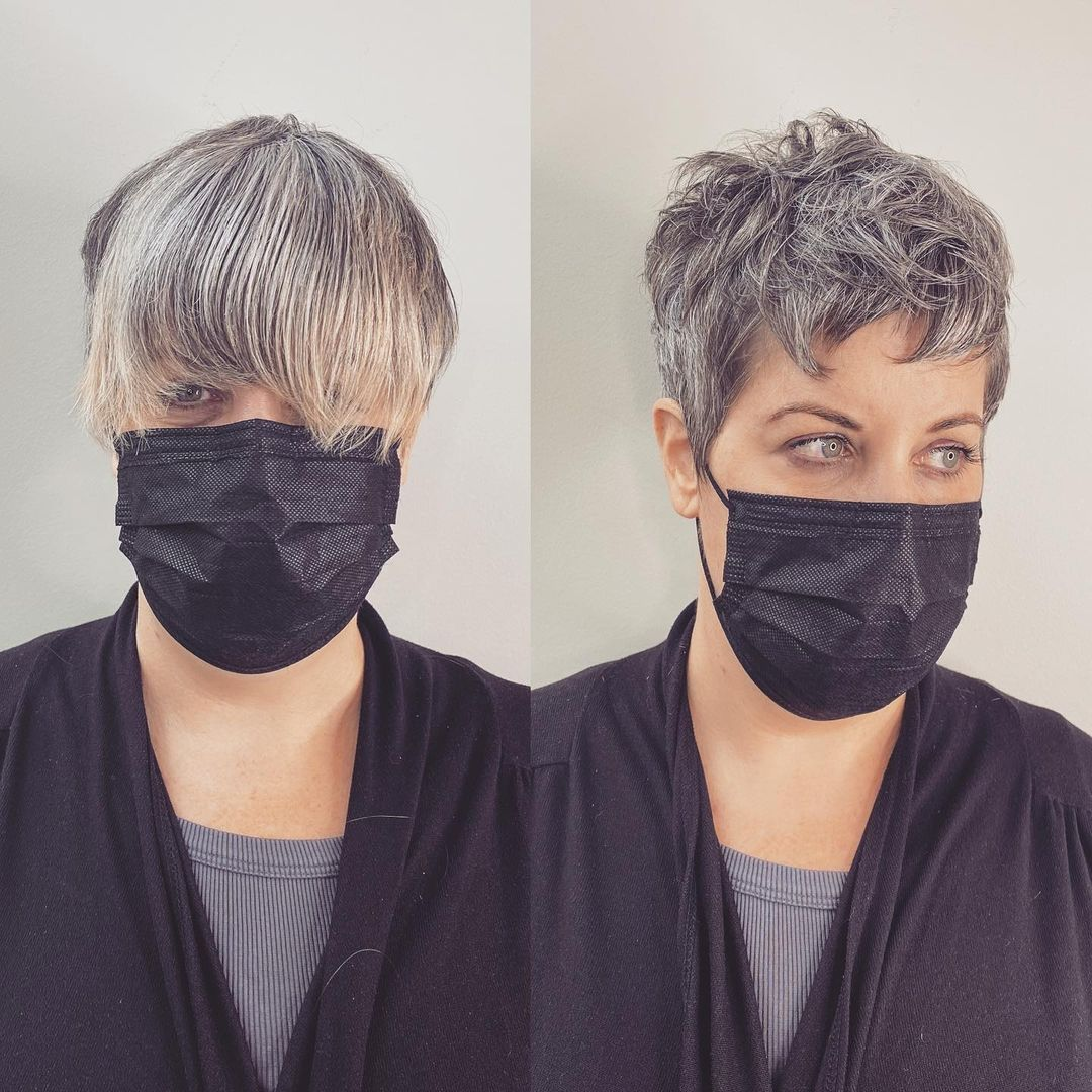 Short Piece-y Gray Hairstyle