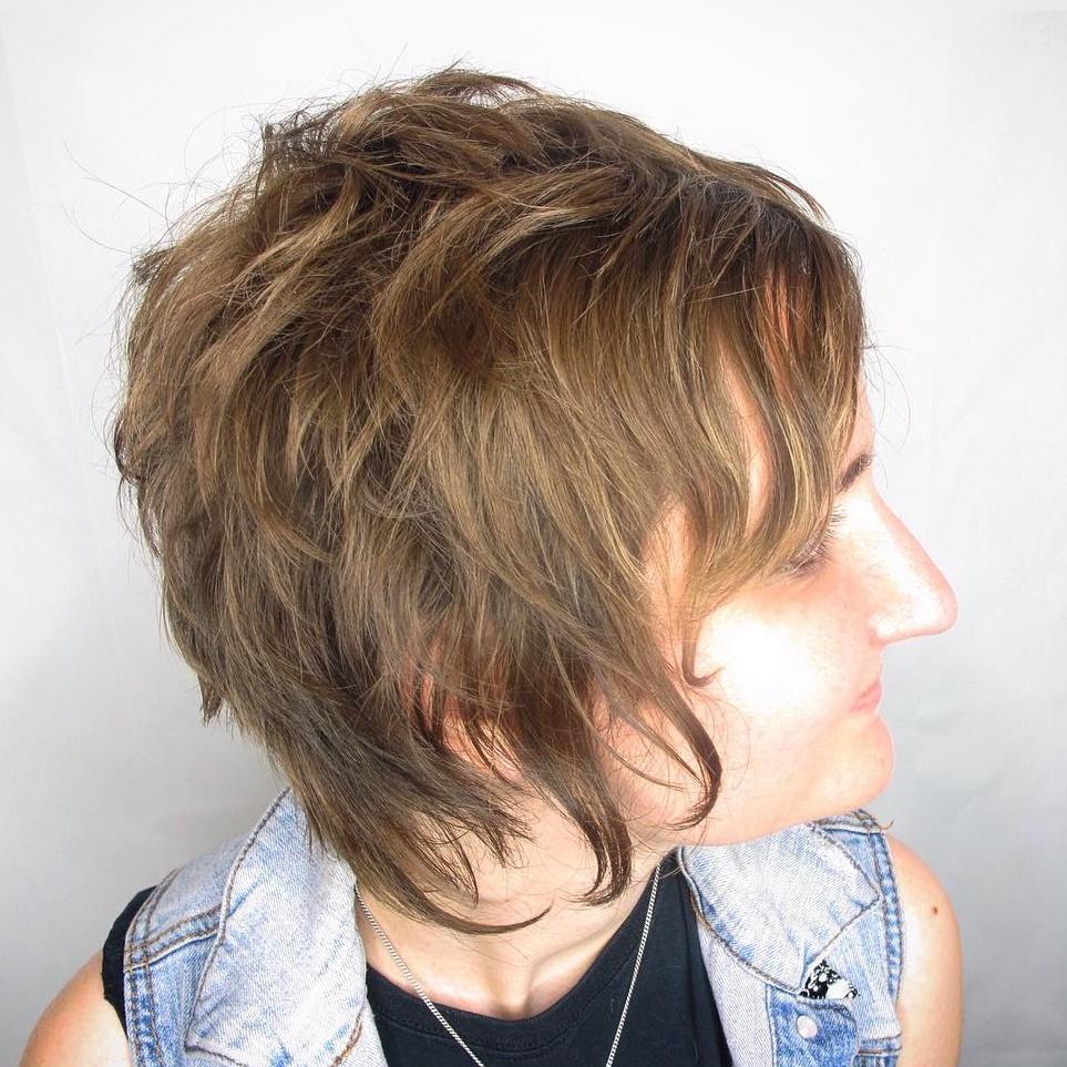 Short to Medium Shag for Fine Hair