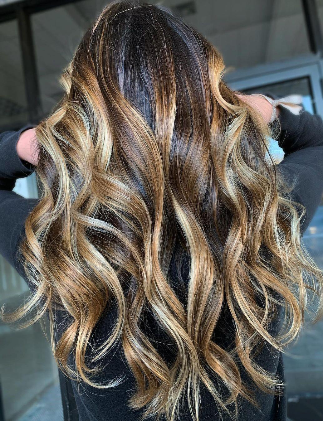 Beautiful Blonde Balayage for Brown Hair