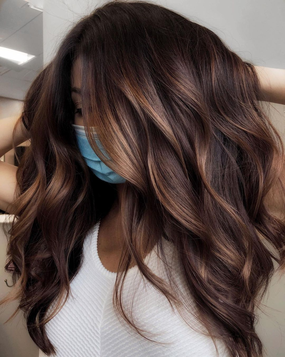Subtle Chocolate Balayage with Babylights
