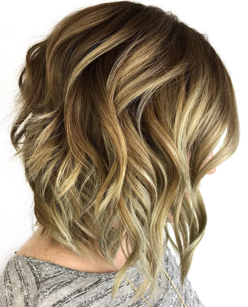 Bronde Thick Bob with Big Voluminous Curls
