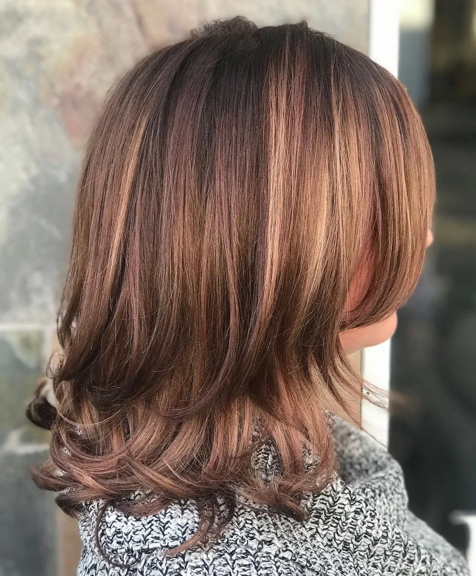 Pink and Copper Two-Layer Cut