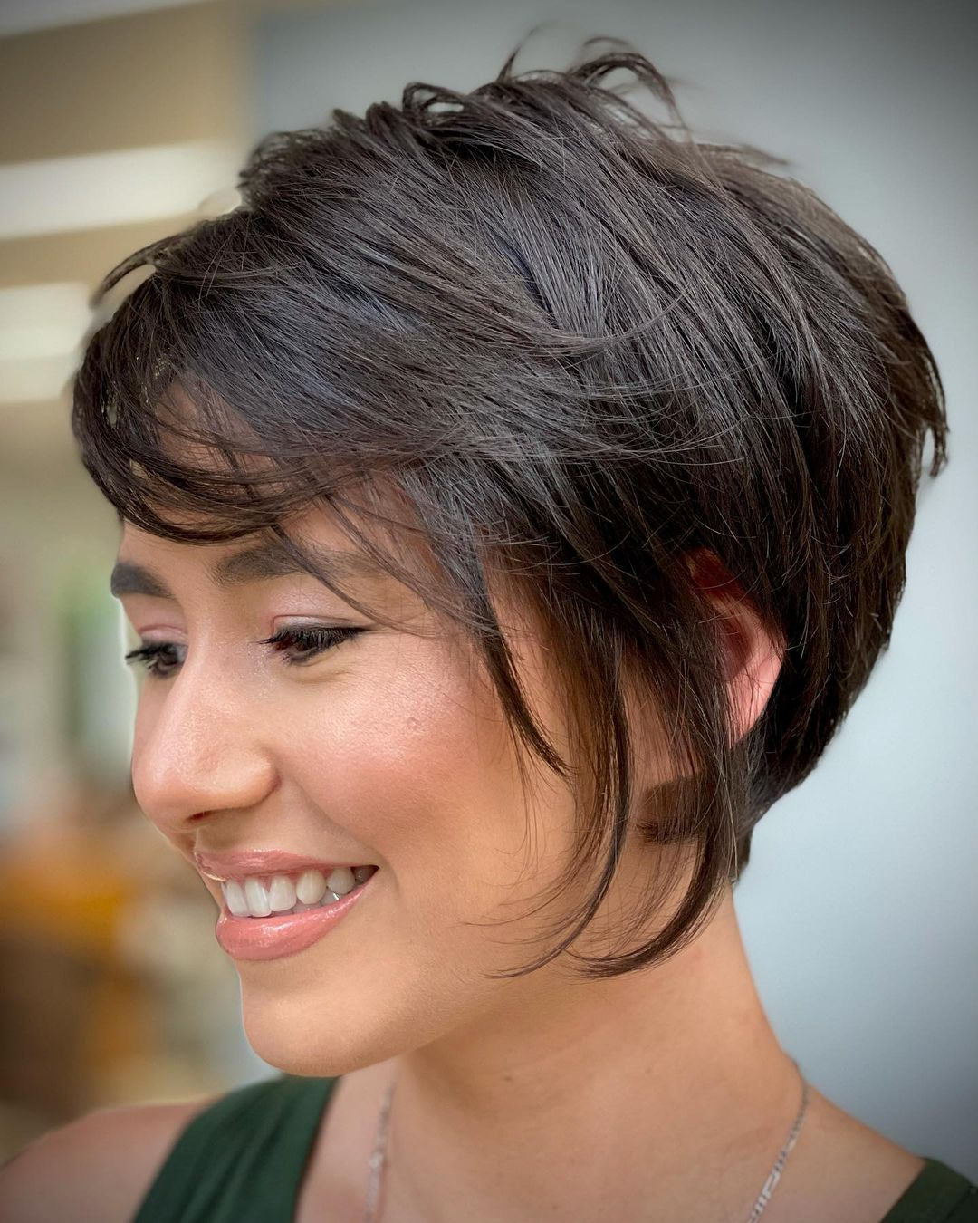 Feathered Short Shag for Thick Hair
